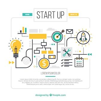Conceito de negócio infográfico
