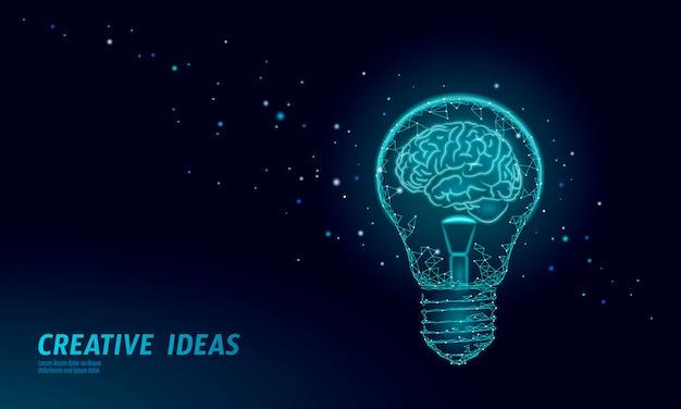 Conceito de negócio inteligente do cérebro humano qi.