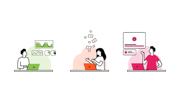 Conceito de negócio metáfora de equipe pessoas conectando elementos de quebra-cabeça ilustração em vetor design plano