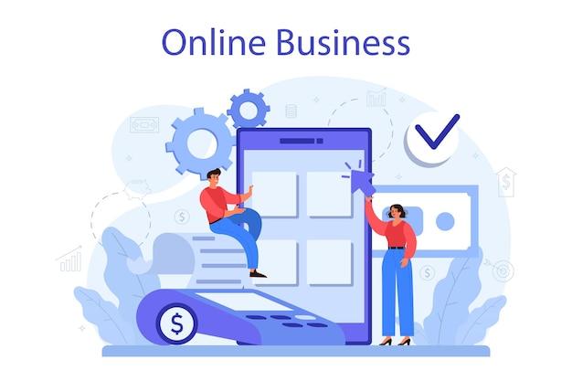 Conceito de negócio online