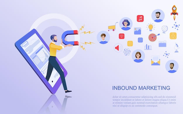 Conceito de negócio para marketing digital.