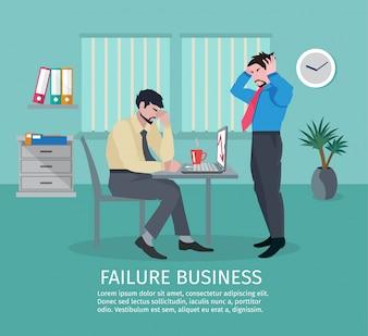 Conceito de negócios de falha
