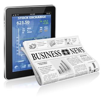 Conceito de negócios e notícias