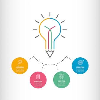 Conceito de negócios infográficos da linha do tempo com 4 opções.