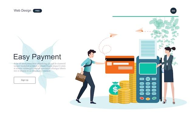 Conceito de negócios para serviços bancários online