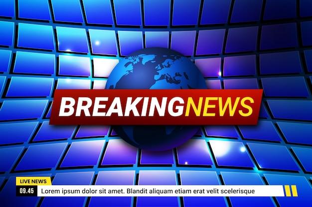 Conceito de notícias de última hora