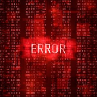 Conceito de notificação de massagem de erro de alerta. relatório digital de erro. hacking do sistema por hacker