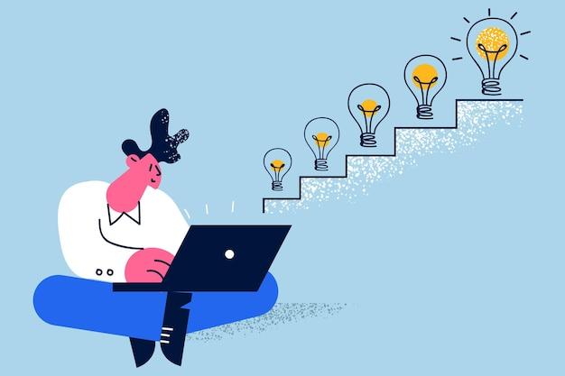 Conceito de novas ideias de liderança de sucesso