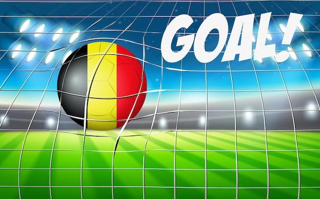 Conceito de objetivo de bola de futebol de bélgica