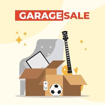 Conceito de ofertas de venda de garagem