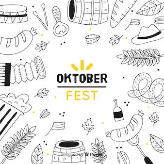 Conceito de oktoberfest com elementos de festa