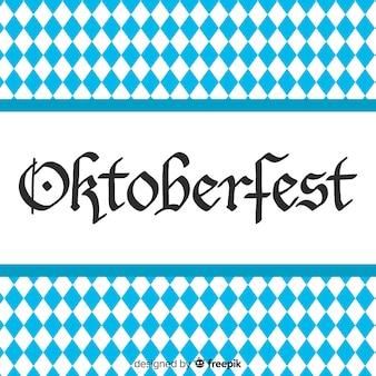 Conceito de oktoberfest com letras de fundo