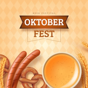 Conceito de oktoberfest realista