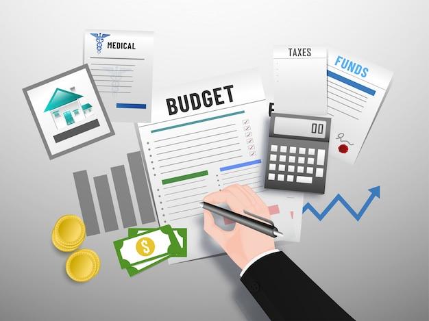 Conceito de orçamento.