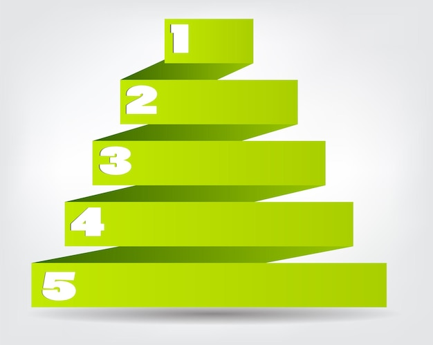 Conceito de origami colorido para design de negócios diferentes. vect