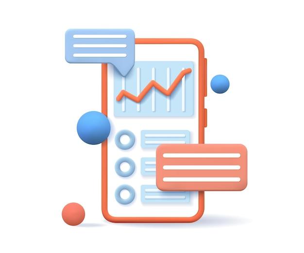 Conceito de otimização de mecanismo de pesquisa 3d. otimização de seo, análise da web e marketing de seo. ilustração vetorial