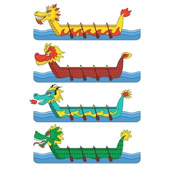 Conceito de pacote de barco dragão