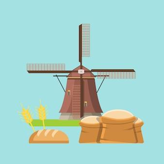 Conceito de padaria de agricultura de grãos inteiros de cereais.