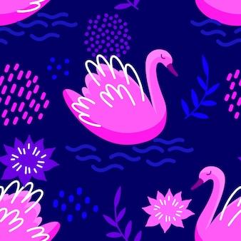 Conceito de padrão de cisne elegante