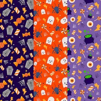 Conceito de padrão de festival de halloween