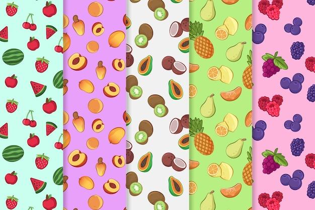 Conceito de padrão de frutas coloridas
