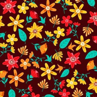 Conceito de padrão floral