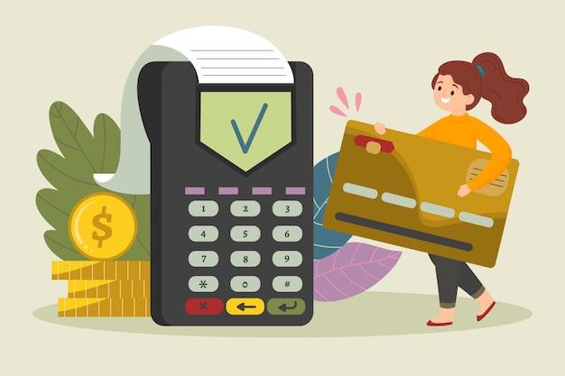 Conceito de pagamento com cartão de crédito da página de destino