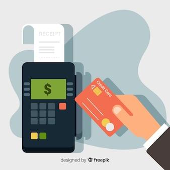 Conceito de pagamento com cartão de crédito para a página de destino