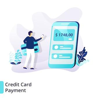 Conceito de pagamento com cartão de crédito