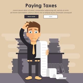 Conceito de pagamento de contas e impostos