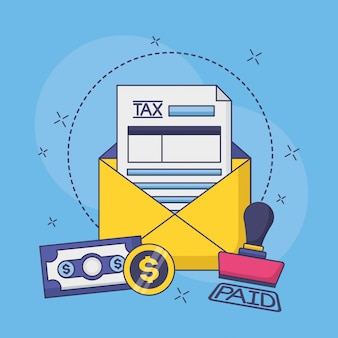 Conceito de pagamento de imposto