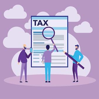 Conceito de pagamento de impostos on-line