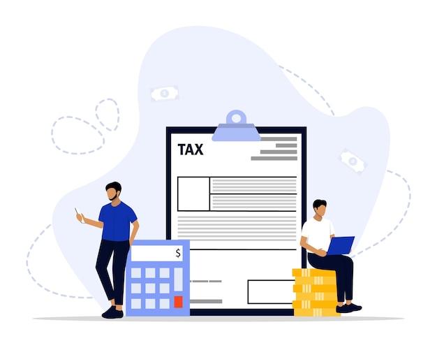 Conceito de pagamento de impostos online
