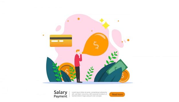 Conceito de pagamento de salário
