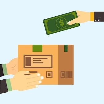 Conceito de pagamento na entrega