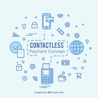 Conceito de pagamento sem contato moderno