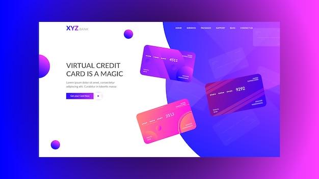 Conceito de página de aterrissagem para bancos modernos & startups