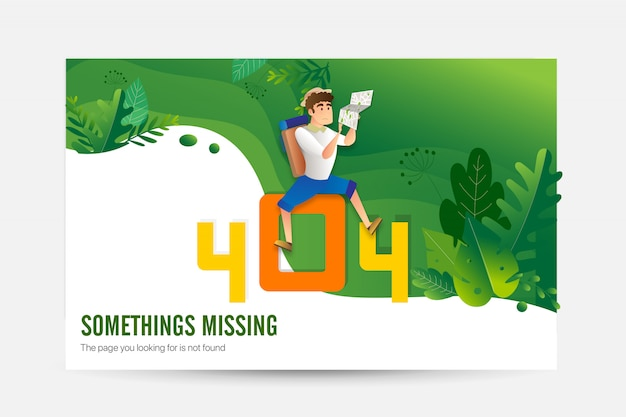 Conceito de página de carregamento de erro 404