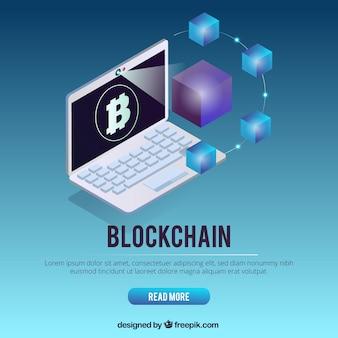 Conceito de página de destino blockchain