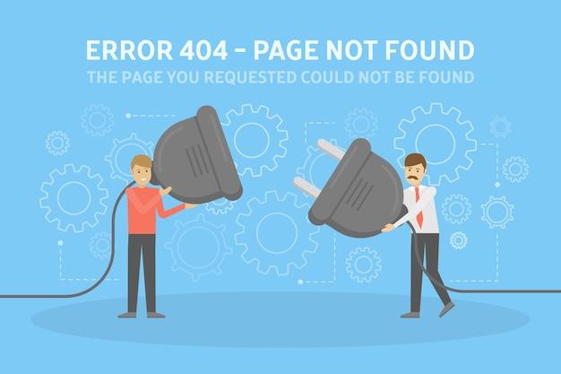 Conceito de página de erro não encontrada