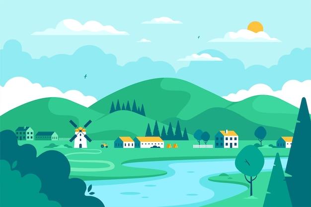 Conceito de paisagem campestre