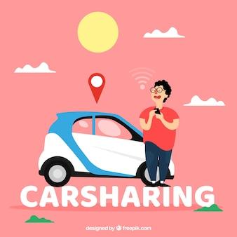 Conceito de palavra carsharing