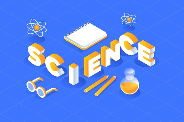 Conceito de palavra ciência isométrica com coleção de elementos