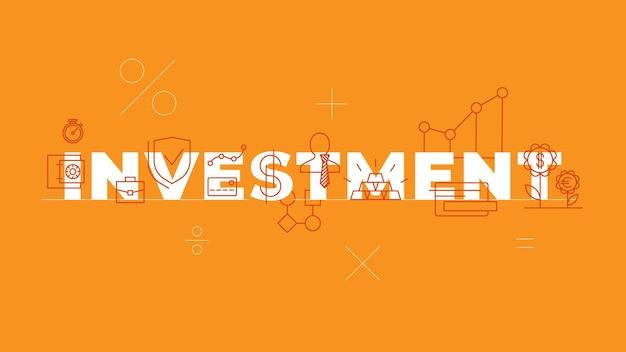 Conceito de palavra de investimento banner banco negócios serviços financeiros setor financeiro isolado