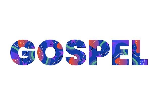 Conceito de palavra gospel