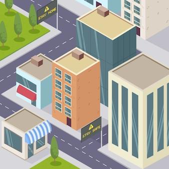 Conceito de pandemia de cidade vazia