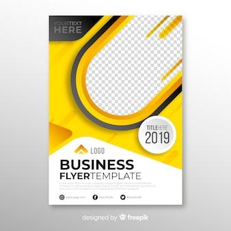 Conceito de panfleto de negócios