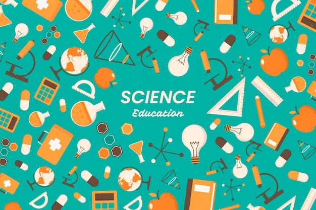 Conceito de papel de parede de educação científica vintage