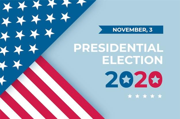 Conceito de papel de parede de eleição presidencial dos eua em 2020