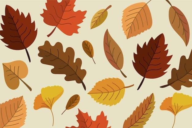 Conceito de papel de parede de folhas de outono